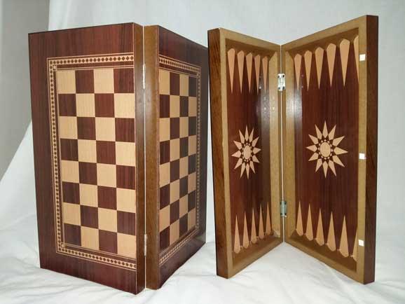 شطرنج-و-تخته-نرد--چوبی-بزرگ